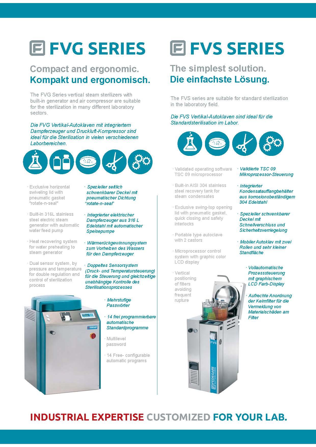 FVG-FVS Vertikaler Labor-Autoklav DE EN